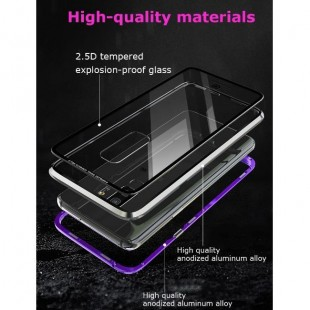 قاب مگنتی شیشه ای Magnet Bumper Glass Case Galaxy J6 Plus