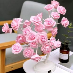 آباژور طرح گل رز صورتی