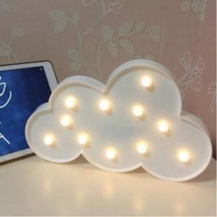 چراغ خواب LED سه بعدی طرح ابر