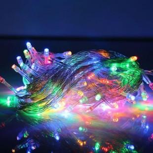 ریسه 10 متری سوزنی با 100 چراغ نور صورتی
