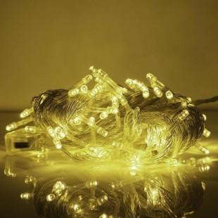 ریسه 10 متری سوزنی با 100 چراغ نور یخی (مهتابی)