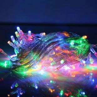 ریسه 20 متری سوزنی با 200 چراغ نور صورتی
