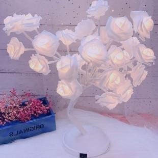 آباژور طرح گل رز سفید