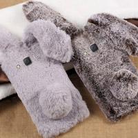 قاب ژله ای خزدار Rabbit Fur Pearl ear Case for Samsung Galaxy J7