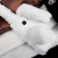قاب ژله ای خزدار Rabbit Fur Pearl ear Case for Samsung Galaxy J7 Prime