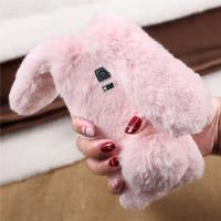 قاب ژله ای خزدار Rabbit Fur Pearl ear Case for Samsung Galaxy S5