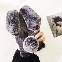 قاب ژله ای خزدار Rabbit Fur Pearl ear Case for Samsung Galaxy S7 Edge