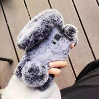 قاب ژله ای خزدار Rabbit Fur Pearl ear Case for Samsung Galaxy Note 4