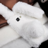قاب ژله ای خزدار Rabbit Fur Pearl ear Case for Samsung Galaxy A3 2016