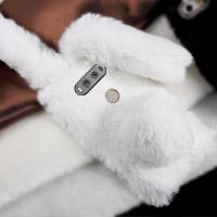 قاب ژله ای خزدار Rabbit Fur Pearl ear Case for LG V20
