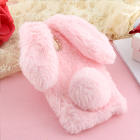قاب ژله ای خزدار Rabbit Fur Pearl ear Case Samsung Galaxy J7 Pro
