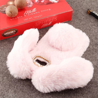 قاب ژله ای خزدار Rabbit Fur Pearl ear Case Samsung Galaxy C9 Pro