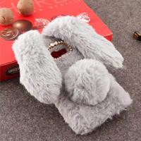 قاب ژله ای خزدار Rabbit Fur Pearl ear Case Samsung Galaxy C7 Pro
