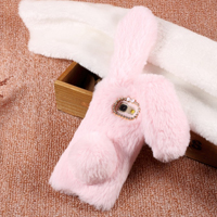 قاب ژله ای خزدار Rabbit Fur Pearl ear Case Samsung Galaxy C5