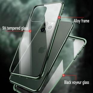 قاب مگنتی با گلس ضد جاسوسی آیفون Magnetic privacy iPhone 11 PRO MAX