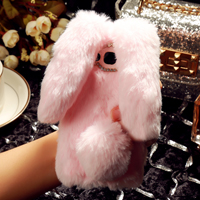 قاب ژله ای خزدار Rabbit Fur Pearl ear Case Samsung Galaxy A3