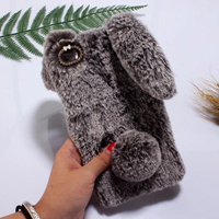 قاب ژله ای خزدار Rabbit Fur Pearl ear Case Huawei P8