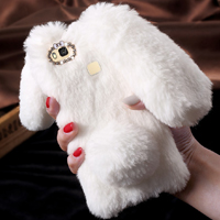قاب ژله ای خزدار Rabbit Fur Pearl ear Case Huawei P9 Lite