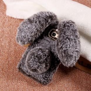 قاب ژله ای خزدار Rabbit Fur Pearl ear Case Huawei Mate 9