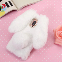 قاب ژله ای خزدار Rabbit Fur Pearl ear Case Huawei Mate 9