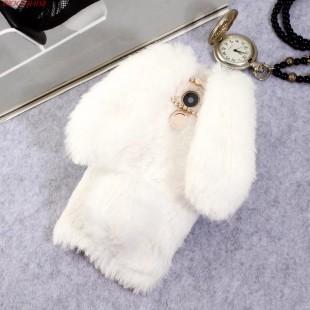 قاب ژله ای خزدار Rabbit Fur Pearl ear Case Huawei Nova Plus