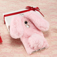 قاب ژله ای خزدار Rabbit Fur Pearl ear Case LG K10 2017