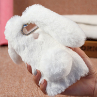 قاب ژله ای خزدار Rabbit Fur Pearl ear Case LG G5