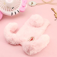 قاب ژله ای خزدار Rabbit Fur Pearl ear Case Sony Xperia XZ