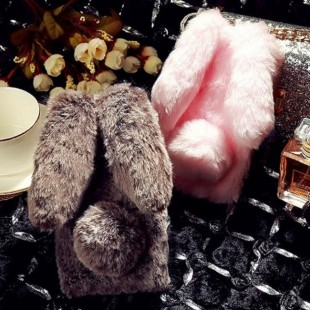 قاب ژله ای خزدار خرگوشی Rabbit Fur Case Galaxy A6 Plus 2018