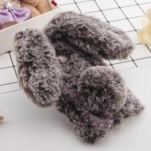 قاب ژله ای خزدار خرگوشی Rabbit Fur Case Galaxy A8 Plus 2018