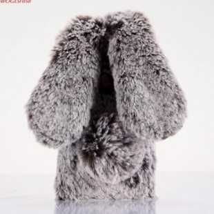 قاب ژله ای خزدار خرگوشی Rabbit Fur Case Galaxy A8 2018
