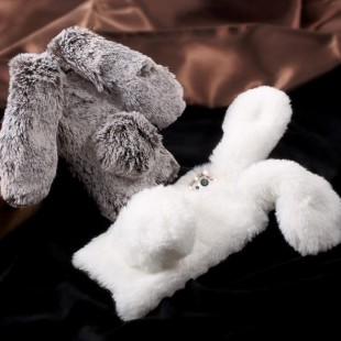 قاب ژله ای خزدار خرگوشی Rabbit Fur Case Huawei Y7 Prime 2018