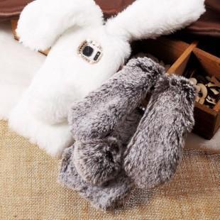 قاب ژله ای خزدار خرگوشی Rabbit Fur Case Huawei P10 Lite