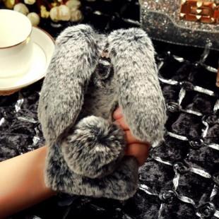 قاب ژله ای خزدار خرگوشی Rabbit Fur Case Huawei P Smart