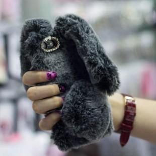 قاب ژله ای خزدار خرگوشی Rabbit Fur Case Huawei Honor 9 Lite