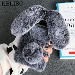 قاب خرگوشی خزدار سامسونگ گلکسی Rabbit Fur Samsung Galaxy J6 Plus