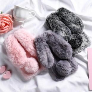 قاب خرگوشی خزدار سامسونگ گلکسی Rabbit Fur Samsung Galaxy A7 2018/A750