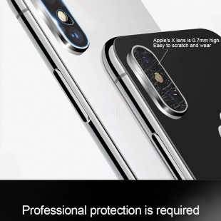 محافظ LCD شیشه ای Lens Glass گلس لنز دوربین Screen Protector.Guard Apple iPhone X