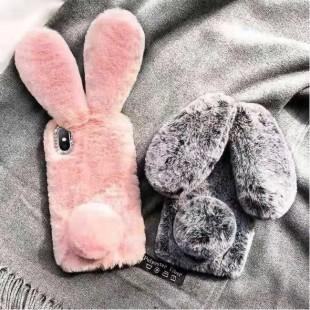 قاب ژله ای خرگوشی خزدار سامسونگ Rabbit Fur Samsung Galaxy A30s