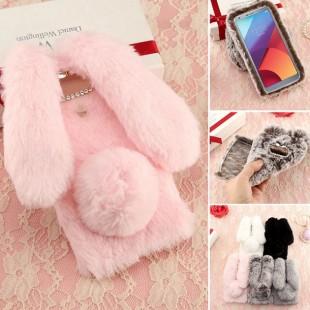 قاب ژله ای خزدار Rabbit Fur Pearl ear Case Huawei P8 Lite 2017