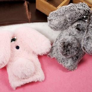 قاب ژله ای خزدار Rabbit Fur Pearl ear Case Huawei Mate 9 Pro