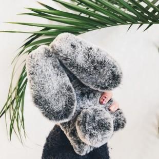قاب ژله ای خزدار خرگوشی Rabbit Fur Case Galaxy J4 2018