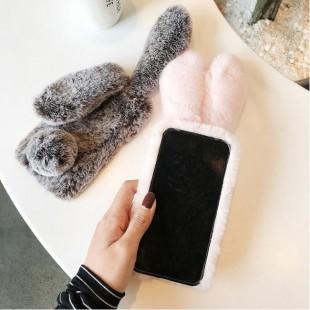 قاب ژله ای خزدار خرگوشی Rabbit Fur Case Huawei Y9 2018