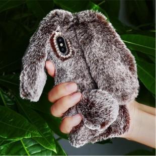 قاب ژله ای خزدار خرگوشی Rabbit Fur Case Huawei P7