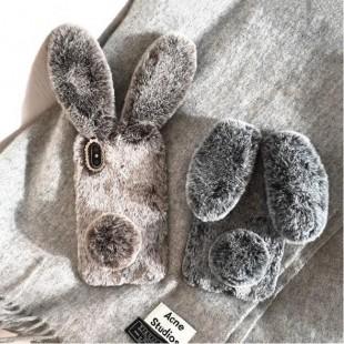 قاب ژله ای خزدار خرگوشی Rabbit Fur Case Huawei P20 Lite