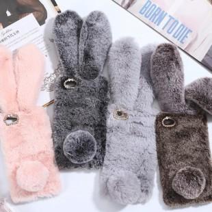 قاب ژله ای خزدار خرگوشی Rabbit Fur Case Huawei P20