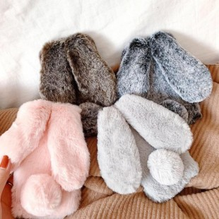 قاب ژله ای خزدار خرگوشی Rabbit Fur Case Huawei Nova 2