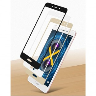 محافظ LCD شیشه ای Full glass Screen Protector.Guard Huawei Honor 6x گلس با پوشش کامل قسمت منحنی