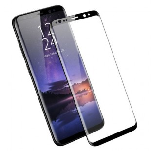 محافظ LCD شیشه ای فول گلس فول چسب Full Glass Full Glue Samsung Galaxy S9 Plus