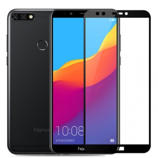 محافظ LCD شیشه ای فول چسب Full Glass Full Glue Screen Protector.Guard Huawei Y7 Prime 2018